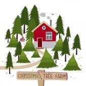 """Постер, картина, фотообои """"Рождественских деревьев ферма"""""""