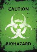 Biohazard logo design Biohazard poster Grunge poster