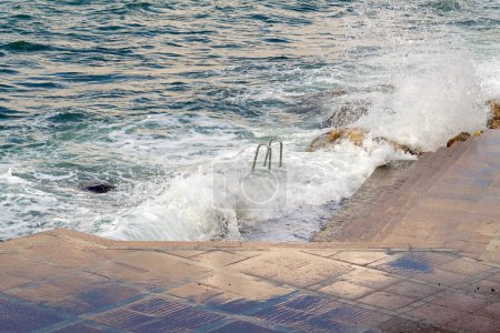 Photo for Storm on sea in the city of Sevastopol - Royalty Free Image