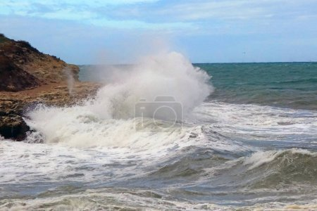 Photo for Storm on sea near the city of Sevastopol - Royalty Free Image
