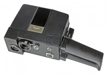 home movie camera for the production of amateur cinema on white