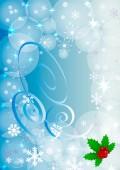 Zimní pozadí s barevné vločky. Může být použít jako nápis nebo plakát. Vektorové ilustrace