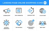 Flat line design concept icons for online shopping website banner and landing page