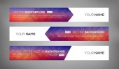 Simple geometric banners 02