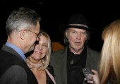 Neil Young singer with friends