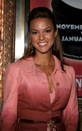 Photo for Actress Eva LaRue at the Red carpet celebrity opening of stage musical version of Irving Berlins White Christmas at the Pantages Theatre in Hollywood, California, United States, November 28, 2005 - Royalty Free Image