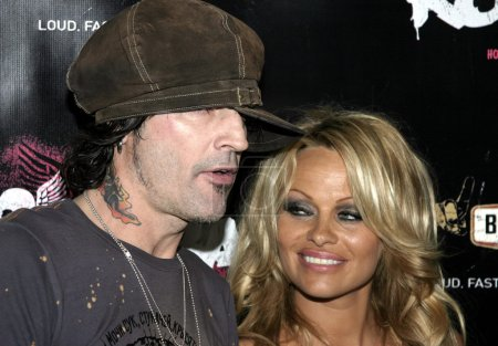 Photo for Pamela Anderson and Tommy Lee at the Rokbar Hollywood Launch Party in Hollywood, USA on June 30, 2005 - Royalty Free Image