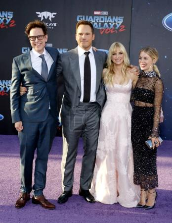 James Gunn, Chris Pratt, Anna Faris and Jennifer Holland