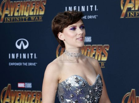 Photo for Actress Scarlett Johansson at the premiere of Disney and Marvel's 'Avengers: Infinity War' held at the El Capitan Theatre in Hollywood, USA on April 23, 2018. - Royalty Free Image
