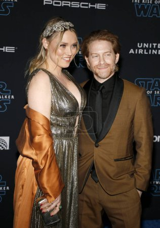Photo for Seth Green and Clare Grant at the World premiere of Disney's 'Star Wars: The Rise Of Skywalker' held at the Dolby Theatre in Hollywood, USA on December 16, 2019. - Royalty Free Image