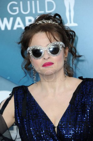Photo for Helena Bonham Carter at the 26th Annual Screen Actors Guild Awards held at the Shrine Auditorium in Los Angeles, USA on January 19, 2020. - Royalty Free Image