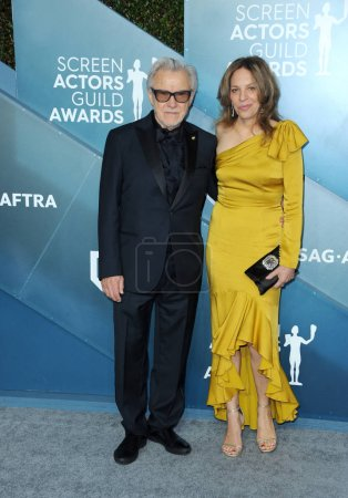 Photo for Harvey Keitel and Daphna Kastner at the 26th Annual Screen Actors Guild Awards held at the Shrine Auditorium in Los Angeles, USA on January 19, 2020. - Royalty Free Image