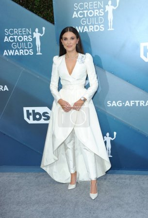 Photo for Millie Bobby Brown at the 26th Annual Screen Actors Guild Awards held at the Shrine Auditorium in Los Angeles, USA on January 19, 2020. - Royalty Free Image