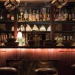 Different alcohol drinks in bar