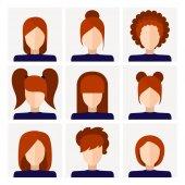 Set of stylish vector icons for infographics Set of stylish wom