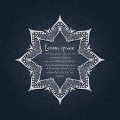 Beautiful circular ornament Mandala Vintage decorative elements Islam Arabic Indian ottoman motifs Set of beautiful ethnic oriental ornaments Stylized flowers Decorative frame for text