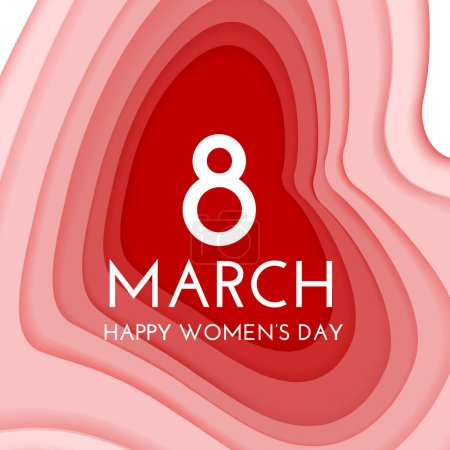 8 march international womens day background. Paper...
