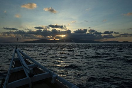 Sea landscape with boat