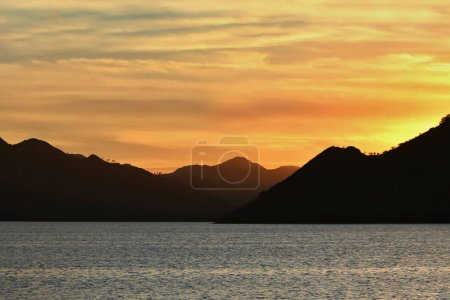 Mountain landscape with sea