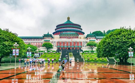 The Great Hall of the People in central of Chongqing, China