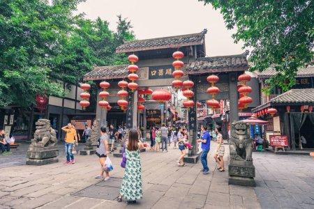 Ciqikou ancient shophouses city at Chongqing, China