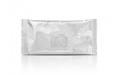 Photo for Blank packaging aluminum foil pouch isolated on white background - Royalty Free Image