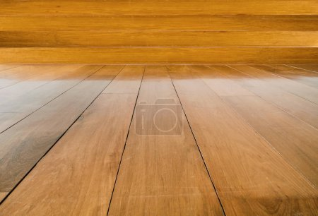 Photo for Wood floor and background, wooden plank - Royalty Free Image