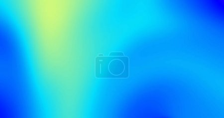 Foto de Abstracto fondo gradiente de color con efecto de flujo de fluidos iridiscentes. Tono gradiente líquido de flujo de color y distorsión abstracta azul y amarillo en fondo mate translúcido. - Imagen libre de derechos