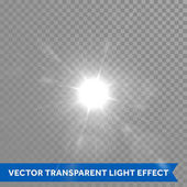 Shining and glowing sun light effects Vector star sun flash explosion Ray glow light with lens flare