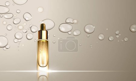 Collagen serum bottle skincare treatment design
