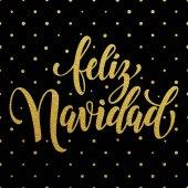 Písmo textu Feliz Navidad španělské Veselé Vánoce