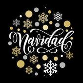 Navidad španělské vánoční nápis blahopřání