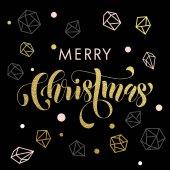 Ozdobné pozadí zlaté ozdoby veselé vánoční přání