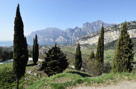 Panoramic view of Torbole and Lake Garda