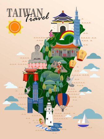 Taiwan travel poster