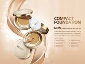 Elegant compact foundation ads