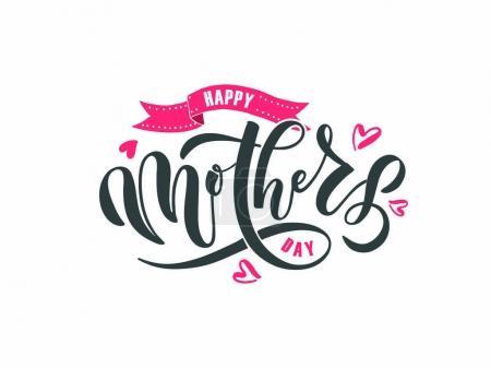 Illustration pour Bonne carte de vœux de la fête des mères. Illustration vectorielle - image libre de droit