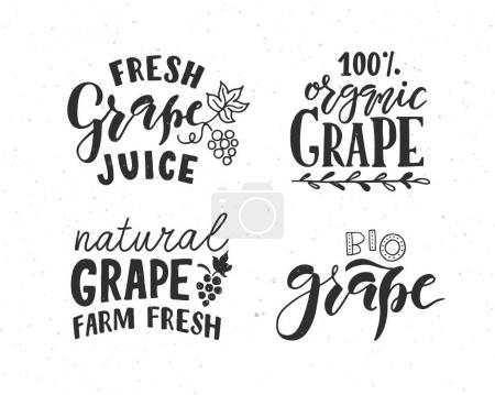 grape lettering typography