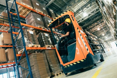 Warehouse logitics work being done