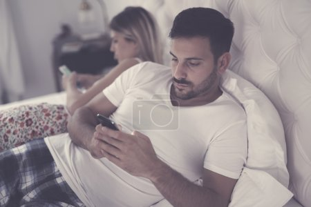 Couples issues with technology addiction