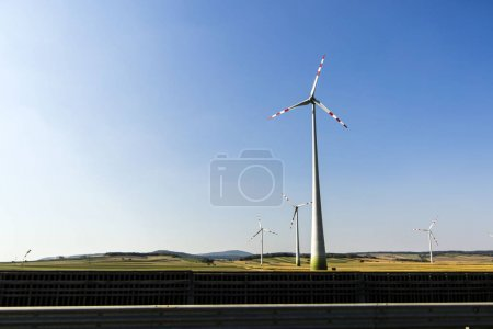 Windmills generating clean electricity