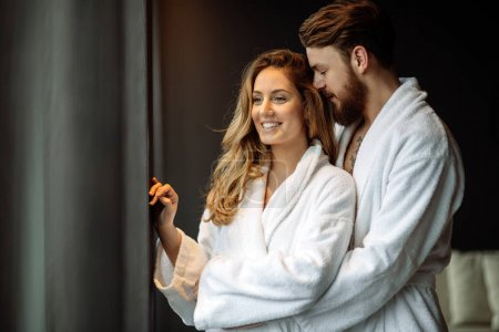 Couple enjoying wellness weekend