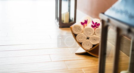 Wellness massage saloon decoration