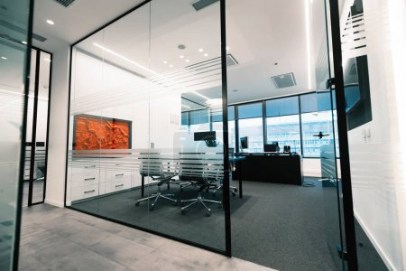 modern offices with furniture