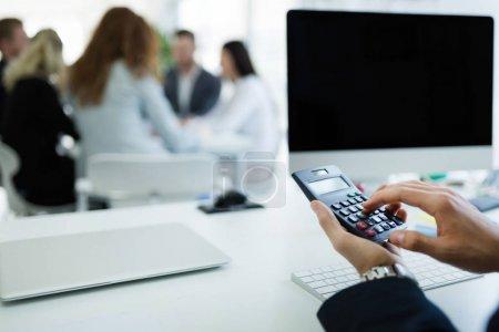 Accountant checking statistics