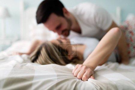 attractive couple having romantic time