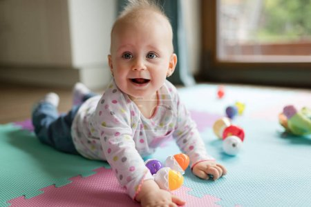 Baby toddler playing color toys