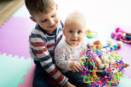 Cute little children playing