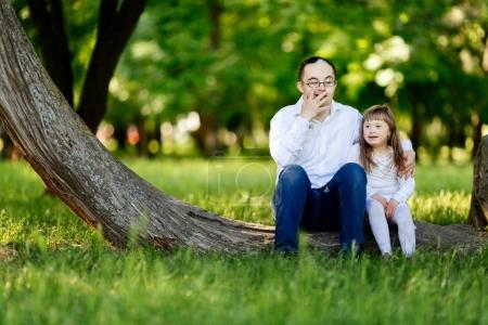 People with down syndrome bonding in nature