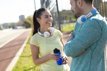 Jogging and running are healthy fitness recreations